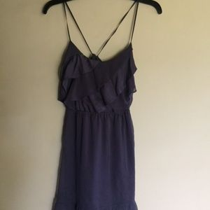 American Eagle Chiffon Strappy Dress with Ruffle